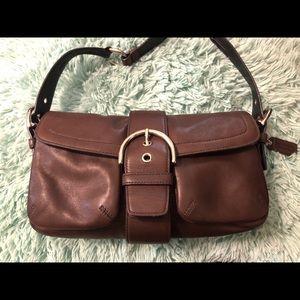 Brown Leather Coach handbag